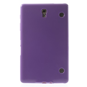 Outer Glossy Inner Matte TPU Gel Cover for Samsung Galaxy Tab S 8.4 T700 T705 - Purple