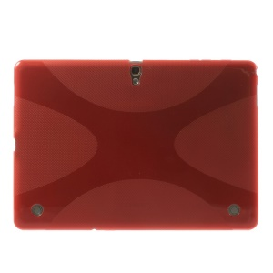 Soft TPU Gel Shell X Pattern for Samsung Galaxy Tab S 10.5 T800 T805 - Red