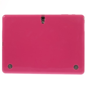 Glossy Outer Matte Inner TPU Shell for Samsung Galaxy Tab S 10.5 T800 T805 - Rose