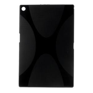 Black X Shape TPU Shell for Sony Xperia Z2 Tablet Wi-Fi SGP511 SGP512 / LTE SGP541 SGP521 SGP551