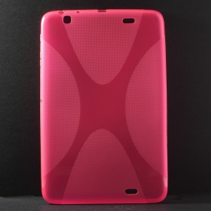 X Pattern Anti-slip Soft TPU Cover for LG G Pad 10.1 V700 WiFi - Rose