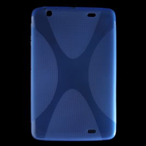 X Pattern Anti-slip Soft TPU Shell for LG G Pad 10.1 V700 WiFi - Blue