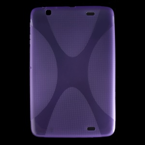 X Pattern Anti-slip TPU Gel Skin for LG G Pad 10.1 V700 WiFi - Purple