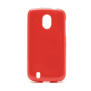 Candy Jelly Gel TPU Case Cover for ZTE Blade 3 III V889M - Red