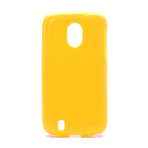 Candy Jelly Gel TPU Case Cover for ZTE Blade 3 III V889M - Yellow