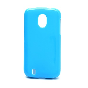 Candy Jelly Gel TPU Case Cover for ZTE Blade 3 III V889M - Blue