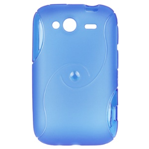Eco-friendly TPU Case with Double S Shape for HTC Wildfire S/PG76110/A510E