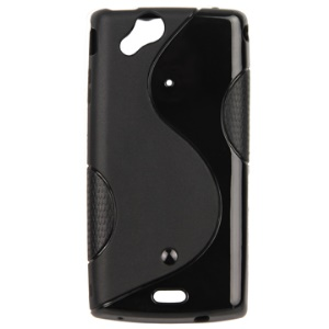 Durable S Streamline Style TPU Case for Sony Ericsson XPERIA Arc/ Anzu/ X12 / Arc S LT18i