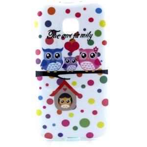 Sweet Owl Family Glossy TPU Case for Motorola Moto E XT1021 XT1022 XT1025