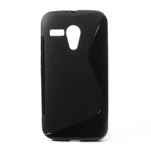 Black S-Line Soft Gel TPU Protector Case for Motorola Moto G DVX XT1032