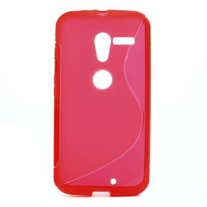 Red S-Curve TPU Case Shell for Motorola Moto X XT1055 XT1056 XT1058 XT1060