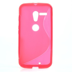 Rose S-Curve TPU Case Shell for Motorola Moto X XT1055 XT1056 XT1058 XT1060