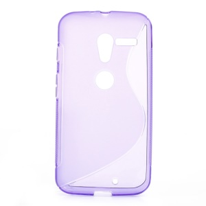 Purple S-Curve TPU Case for Motorola Moto X XT1060 XT1058 XT1055 XT1056