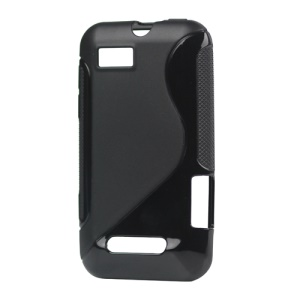 S Shape TPU Gel Case for Motorola Defy Mini XT320