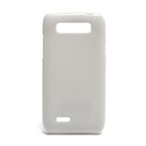 TPU Jelly Skin Case Cover for Motorola XT788 Glossy Surface - White