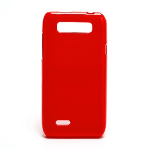 For Motorola XT788 Soft TPU Candy Case with Glossy Surface - Red
