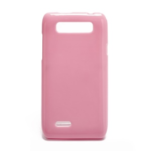 Glossy Jelly TPU Phone Case for Motorola XT788 - Pink