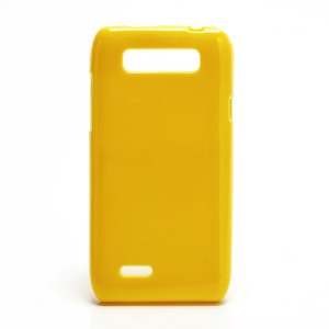 Glossy Flexible Jelly TPU Gel Case for Motorola XT788 - Yellow