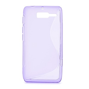 S-Curve Gel TPU Case Cover for Motorola RAZR D3 XT919 XT920 - Purple