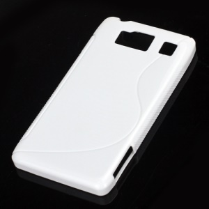 S Line Curve TPU Gel Case for Motorola RAZR HD XT925 XT926 - White