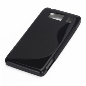 S Line Curve TPU Gel Case for Motorola RAZR HD XT925 XT926 - Black