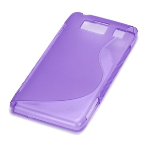 S Line Curve TPU Gel Case for Motorola RAZR HD XT925 XT926 - Purple