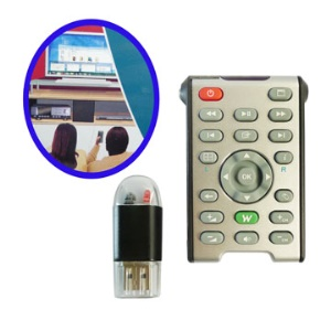 Wireless IR Multimedia PC Computer Remote Control w/laser pointer
