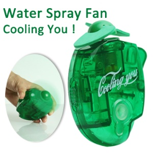 Mini Portable Water Spray Cooling Fan with Metal Buckle