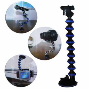 Flexible Monopod Stand with Vacuum Cup for Camera DV GPS