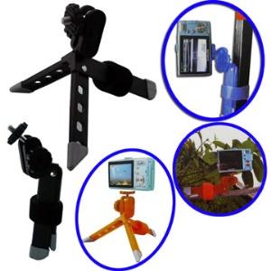 Portable Mini Tripod for Camcorder Cameras;Orange