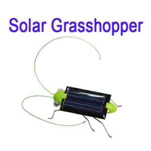 Solar Powered Crazy Cricket Grasshopper Toy Children