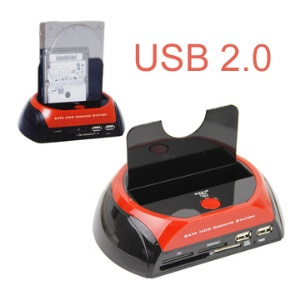 SATA HDD Docking Station Combo w/ Card Reader/Write + Hub(BS-HD04)