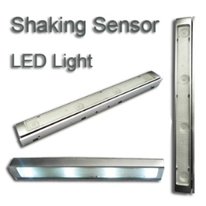 22 cm Mini Shaking Sensor LED Light with Silvery White Flash