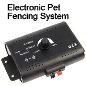 Smart Dog In-ground Electronic Pet Fencing System Complete Set (AC 110~240V)