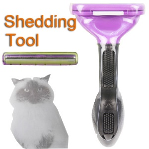 Professional Pet Grooming Cat Dog Shedding Tool (2.65&amp;#39;&amp;#39; Edge)