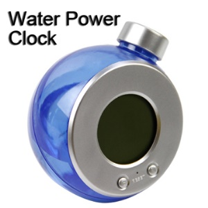 Novelty Reusable Water Power LCD Display Clock 808