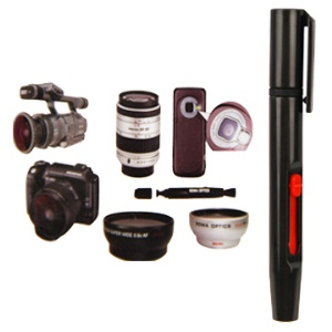 Lens Cleaning Brush Pen Dust Removal Tool Kit for Camera Camcorder Telescope etc
