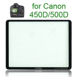 FOTGA Pro Optical Glass LCD Screen Protector for Canon 450D/500D