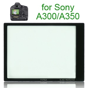 FOTGA Pro Optical Glass LCD Screen Protector for Sony A300/A350