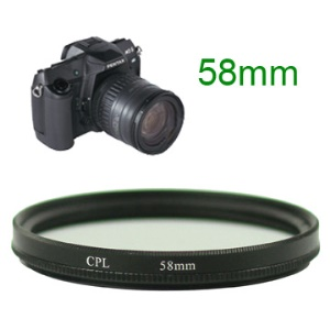 58mm CPL Circular Polarizer Lens Filter Lens Protector