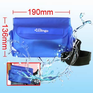 Stylish Waterproof Waist Bag Case for Camera/Mobile Phone/Sundries, Inner Size:21cm*13.6cm
