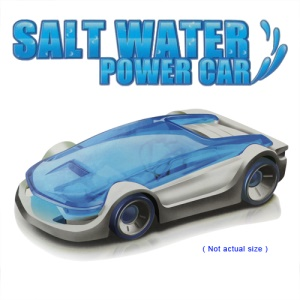 Mini Intellectual DIY Assembled Salt Water Powered Car Toy for Kids