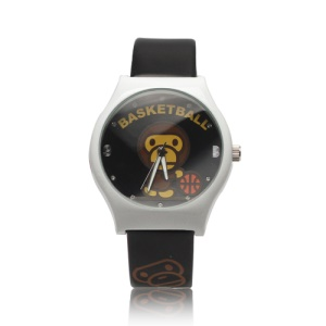 Monkey Playing Basketball Rhinestone Digital Wrist Watch