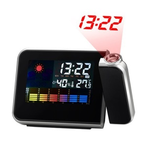 Digital Weather Station Projection Snooze Clock Alarm