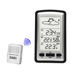 Digital Wireless Weather Station Barometer Indoor Outdoor 100M Range