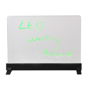 Erasable Fluorescent Flashing LED Writing Board Menu Sign Transparent 34*24*1.6cm