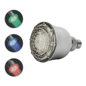 Bell-Shaped Temperature Sensor RGB Light LED Shower Head Sprinkler