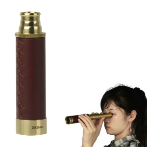 25 x 30mm Nautical Brass Zoom Monocular Telescope
