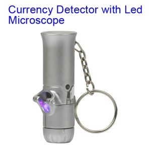 60X LED Light Microscope Loupe Currency Detecting Money Detector Magnifying