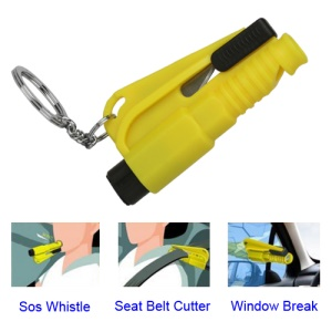 Rescue Car Kit - SOS Whistle Belt Cutter Window Break